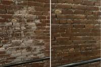 Efflorescence sur brique