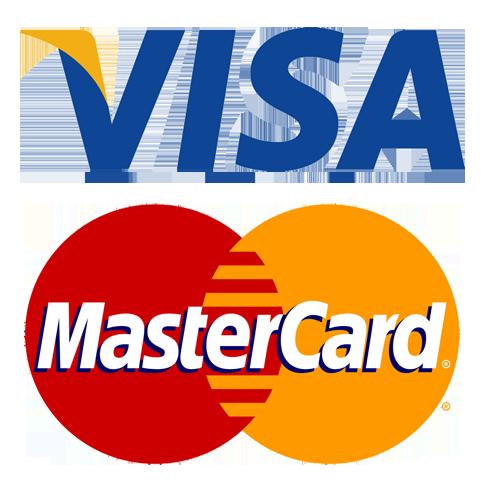 Nous acceptons Visa et Mastercard